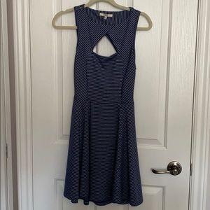Cut out blue striped bb Dakota dress